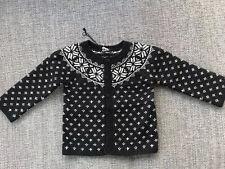 Brand New PETIT BATEAU 18 Months Thick Wool Fair isle Nordic Cardigan £53