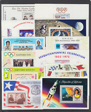 Liberia Sc C180/C200 MNH. 1968-76 issues, 12 different Air Mail souvenir sheets