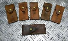 Genuine Vintage Military 1950/60`s Brown Leather Knife / Accessory Pouch Pocket