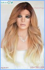 Swiss Lace Front Wig 4X4 Silk Top Handtied Heat Safe 2T27.613 Long Thick 1248