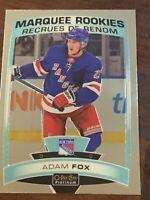 ADAM FOX RC 2019-20 O-Pee-Chee OPC PLATINUM Marquee Rookies #178 N.Y. Rangers
