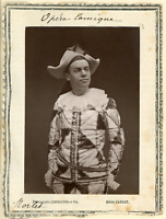 Lemercier et Cie., Paris, Opéra Comique. M. Morlet  Vintage print.  Photoglypt