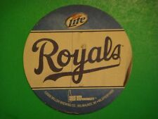 Beer Coaster Mat: Miller Lite <> The Royals <> Great Taste Less Filling <> WI