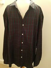 (D) Asos Smart  Mens Black/Green/Red  Check Shirt 4XL new with tags