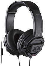 NEW JVC Xtreme Xplosives HA-MR60X Over-Ear Headphones Black iphone Android ipod