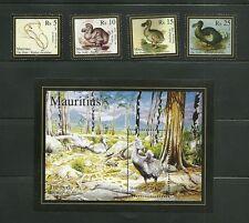 MAURITIUS-  DODO FULL SET & SOUVENIR SHEET , UNMTD . 25 JUNE2007