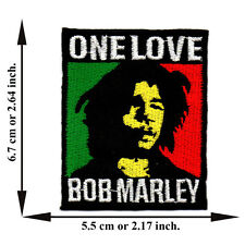 Bob Marley One Love Music Reggae Ska Rasta V01 Applique Iron on Patch Sew