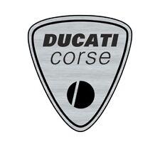 Logo adhésif gravé Ducati Corse Monster Supersport - 6cm x 5cm - épaisseur 1mm