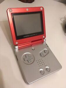 Nintendo Game Boy Advance SP - GBA. Edición Roja Mario. AGS 001 + Kingdom Hearts