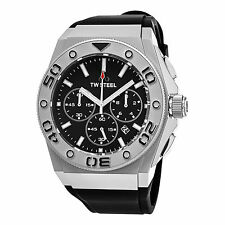 TW Steel Men's CEO Diver Black Chronograph Dial Rubber Strap Quartz Watch CE5009