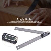 200mm Stainless Steel Digital Protractor Goniometer Gauge Angle Finder Ruler LJ