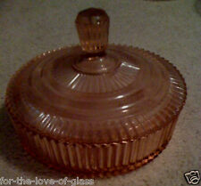 Pink Queen Mary Covered Candy Dish
