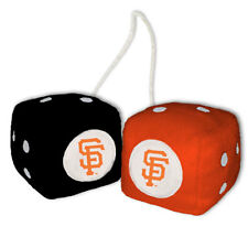 SAN FRANCISCO GIANTS PLUSH FUZZY DICE CAR MIRROR DANGLER MLB BASEBALL
