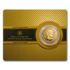 2008 1 oz Gold Canadian Maple Leaf Coin - Assay Card - SKU #42882