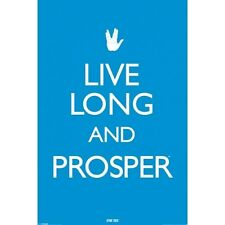 Star Trek Large Poster Live Long and Prosper - Retro Funky Sci-Fi Gift for Him