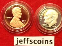 2013 S Proof Lincoln Shield Cent & Roosevelt Dime Ultra Cameo 10¢+1¢ penny set