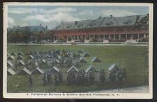 Postcard PLATTSBURGH New York/NY  Soldiers Tent Camp Scene Aerial view 1910's