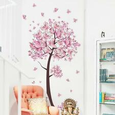 Wall Tree Butterfly Flower Decal Vinyl Decor Sticker Blossom Bedroom Branch Pink