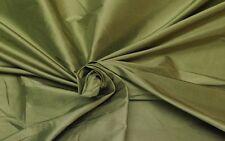 "DUPIONI SILK OLIVE GREEN 100% SILK TAFFETA MULTI USE FABRIC BY THE YARD 55""W"