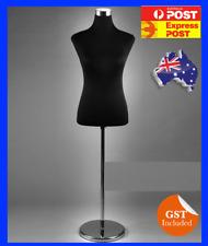 Black Female Dress Form Mannequin torso Full Size Chrome Stand Medium