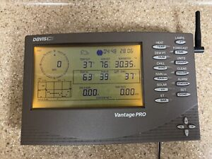 DAVIS VANTAGE PRO CONSOLE + POWER ADAPTER WEATHER STATION 6150