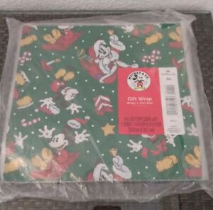 Hallmark Mickey Mouse Disney Christmas Wrapping Paper Lot of 6 for Shirt Box