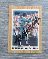 FERNANDO VALENZUELA LOS ANGELES DODGERS MEXICO SIGNED 1987 TOPPS MINI CARD #16