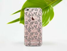 Floral iPhone X XR Silicone Cover Cute iPhone 4s 5s 6s Clear Case iPhone 7 Plus