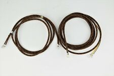 Cloth Covered Telephone Cords - Handset & Line - Brown w Black Trace- SKU- 24170