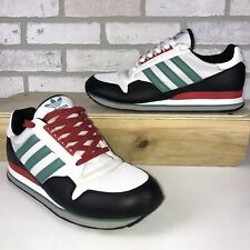 RARE adidas Men's ZX 500 White/Black-Jade G13114 Shoe w/ Extra Laces Mens 10