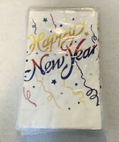 C. A. Reed Happy New Year White Paper Table Covers Vintage 1987