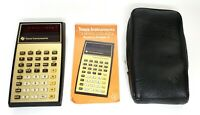 Texas Instruments TI Business Analyst-I Red LED Vintage Calculator, Case+Manual