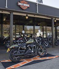 NEW BIKETEK XL CUSTOM CHOPPER MOTORCYCLE GARAGE MAT HARLEY CONFEDERATE 2.8mx1m