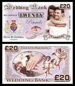 Personalised Wedding Day Novelty Banknotes
