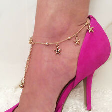 Anklet Bracelet Women Beach Foot Jewelry Chic Charm Gold Starfish Chain Ankle