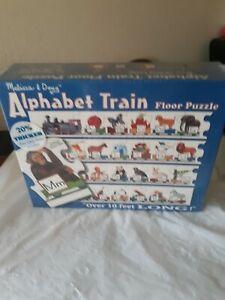 Melissa & Doug ALPHABET TRAIN Floor Puzzle Over 10 Feet Long  Preschool ABCs New