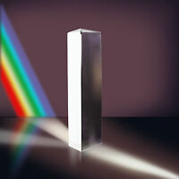 Crystal Optical Glass Triple Triangular Prism Physics Teach Light Spectrum US