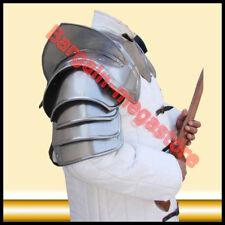 Medieval Iron Steel Pauldron Shoulder Neck Body Armour w/ Gorget Blade Breaker