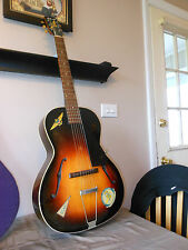 "1939 Gibson L-37 ""NAVY"" Owned Pre-War Jacksonville ,FLA  Deep Flame Wood Grain"