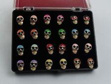 NEW 24pcs 18K Gold Plated fashion Skull head cute Stud Earring jewlery wholesale