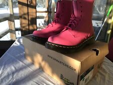 Dr. Martens Women's Pascal Leather Combat 8 Eye Hot Pink Virginia Women's 5 Boot