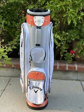 New listing Callaway Ladies Solaire Lightweight Cart Bag 6 Way Top 7 Pockets And Rain Cover.