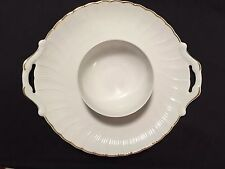Beautiful Bernardaud Limoges France 2-handle platter attached bowl serving white