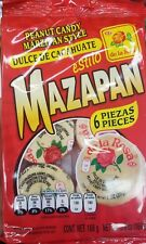 NEW MAZAPAN PEANUT CANDY MARZIPAN STYLE 6 PCS 5.9 OZ MEXICAN CANDY