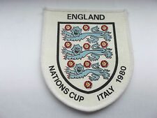 england  nations cup  italy 1980 vintage three lions  cloth patch