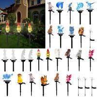 Solar Power LED Owl Animals Lawn Light Waterproof Outdoor Garden Yard Decor Lamp