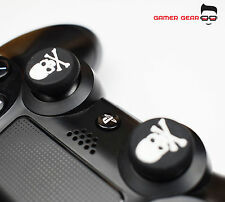 2 x Rubber Thumb Stick Grip PS3 PS4 XBOX One Analog Controller - White Skull