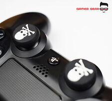 2 x Palo de agarre de goma del pulgar PS3 PS4 XBOX Controlador Analógico-Blanco Cráneo One