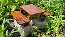Handmade Squirrel Picnic Table Feeder