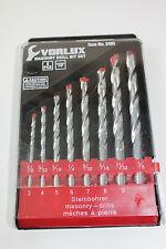 Vorlux 8pc Masonary Stone Brick Drill Bit Set Metric/Imperial HQ Carbide Tips